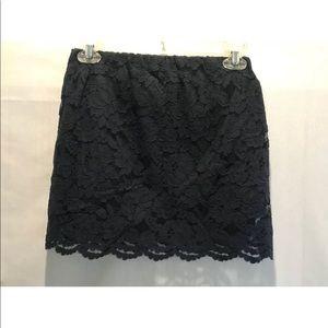 Girls Abercrombie Navy Blue Lace Skirt Size XL